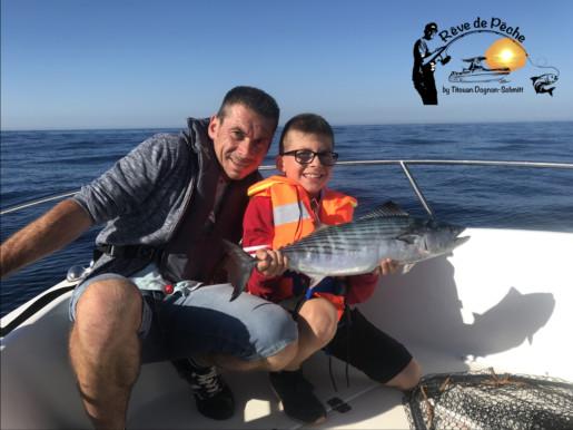 pêche sur chasse pélamides$